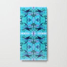 Blue Smoke Metal Print