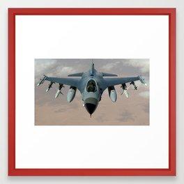 fighter jet Framed Art Print