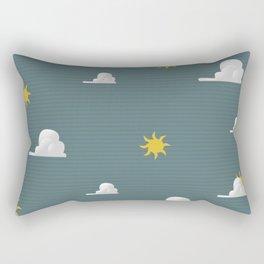 Vintage Weather Pattern Rectangular Pillow
