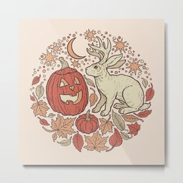 Halloween Friends | Autumn Palette Metal Print