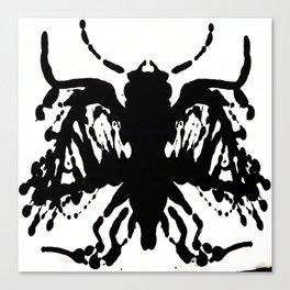 Ink Blot Cicada Canvas Print
