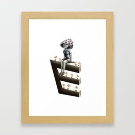 Mushroom woman Framed Art Print