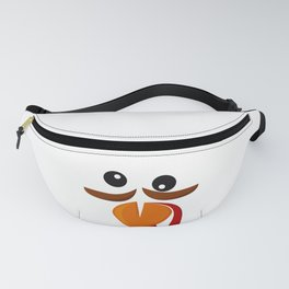 Turkey Face Funny Costume Thanksgiving Day graphic Fanny Pack
