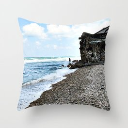 Seaside photography - beach Photography - Sea Nautical Ocean Throw Pillow
