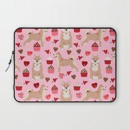 Shiba Inu dog breed love cupcakes hearts valentines day pet gifts Shiba inus Laptop Sleeve