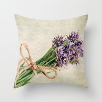 lavender Throw Pillows featuring Lavender by ThePhotoGuyDarren