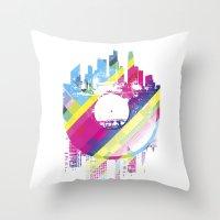 deadmau5 Throw Pillows featuring Urban Vinyl V2 by Sitchko Igor