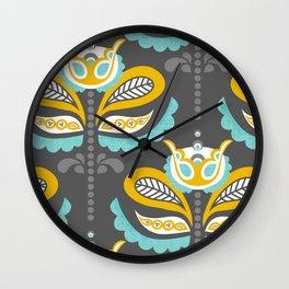 Birdsong Bloom Wall Clock