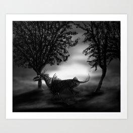 Undead unicorn Art Print
