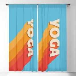 Yoga retro typography Blackout Curtain