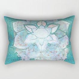 Turq Mandala Rectangular Pillow