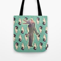 yaoi Tote Bags featuring BUTTS 2 by kami dog