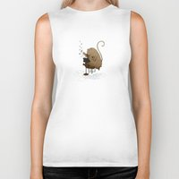 letters Biker Tanks featuring MOUSEY LETTERS by wbean
