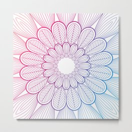 Abstract Colored Flower Metal Print