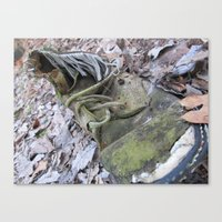 shoe Canvas Prints featuring Shoe by DillonWire
