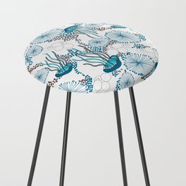 Underwater World with Jellyfishes dance Counter Stool