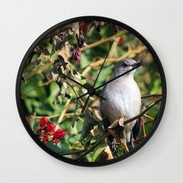 A Bird in the Bush Wall Clock
