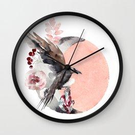 Visions Of Crystal Eyed Ravens Wall Clock