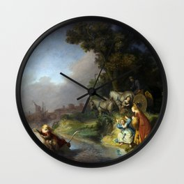 "Rembrandt Harmenszoon van Rijn, ""The Abduction of Europa"", 1632 Wall Clock"
