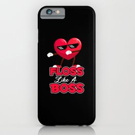 Floss Like A Boss Valentines Day Boys Kids Flossing. iPhone Case