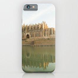 Palma de Mallorca- travel photography- The Cathedral in Palma de Mallorca iPhone Case