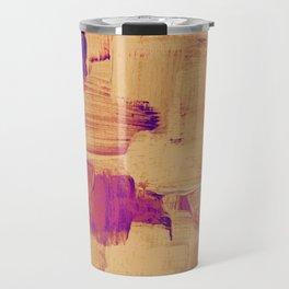 Magenta Sunset Brush Travel Mug