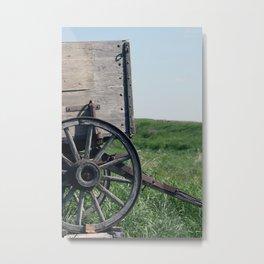 Antique Wooden Wagon Metal Print