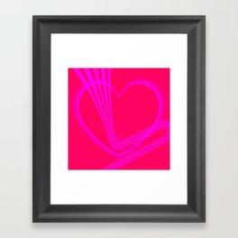 Pink Heart w/Pink Zigzag Lines Framed Art Print