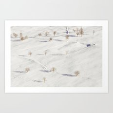 White Winterscapes II Art Print