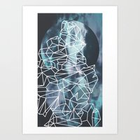 gossip girl Art Prints featuring Gossip by Lousy Voilet