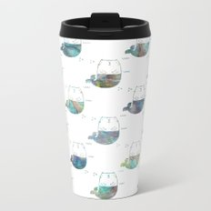 MerKitty Ocean Seashell Metal Travel Mug