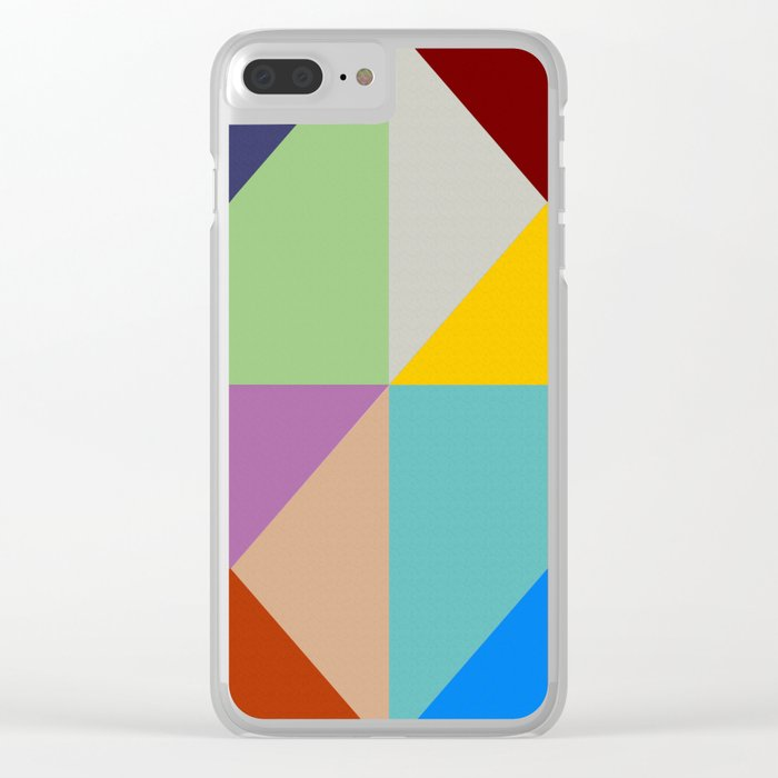 Abstract #228 Clear iPhone Case