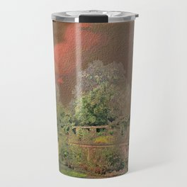 English Garden Sunset Travel Mug