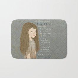 Portrait of Cosette from Les Misérables Bath Mat