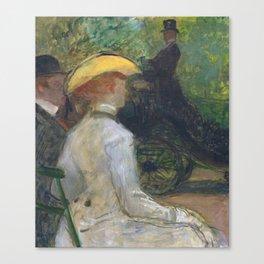 """Henri de Toulouse-Lautrec """"Au Bois de Boulougne"""" Canvas Print"""