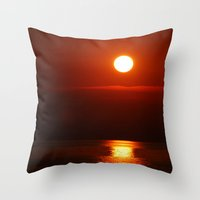 copper Throw Pillows featuring Copper by Joann Yant
