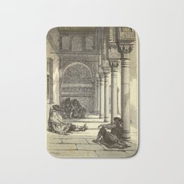 Gustave Doré - Spain (1874): The Court of the Myrtles, Alhambra, Granada Bath Mat