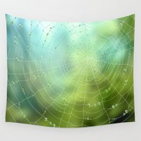 spider Wall Tapestries featuring spider by Antracit
