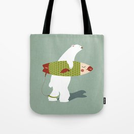 Bear Surfing  Tote Bag