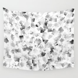 many small colored squares shaded superimposed Wall Tapestry