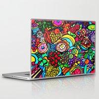 vegan Laptop & iPad Skins featuring Vegan Paradise by Ally Burguieres