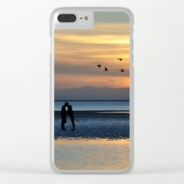 kiss at sunset Clear iPhone Case