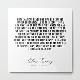 30   | Alan Turing Quotes  | 190716 | Metal Print