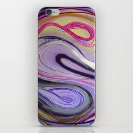 Waves Pink iPhone Skin