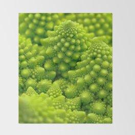 Macro Romanesco Broccoli Throw Blanket