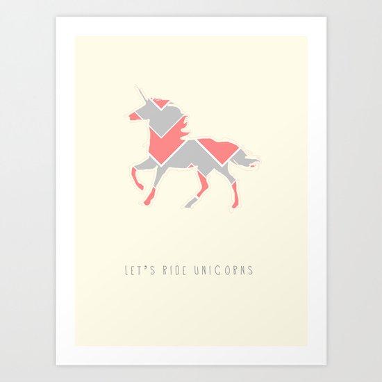 unicorns are real Art Print