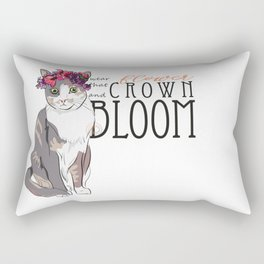 Wear That Flower Crown And Bloom - Cat Rectangular Pillow
