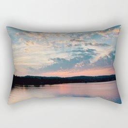 Sunrise over Beaver Rectangular Pillow