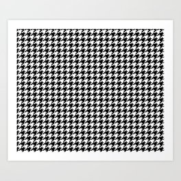 Houndstooth Black and White Art Print