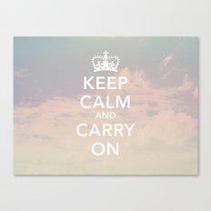 Keep Calm & Carry On Canvas Print